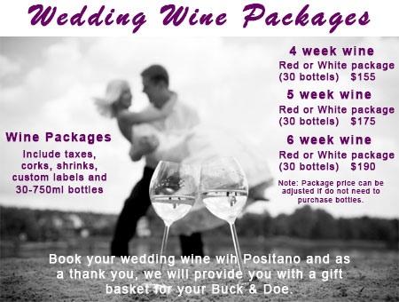Wedding Wine Packages - Complete Packages for Special Occasions